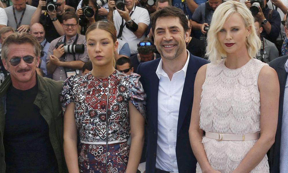 Foto: Penn, Bardem y Theron en Cannes (Reuters)