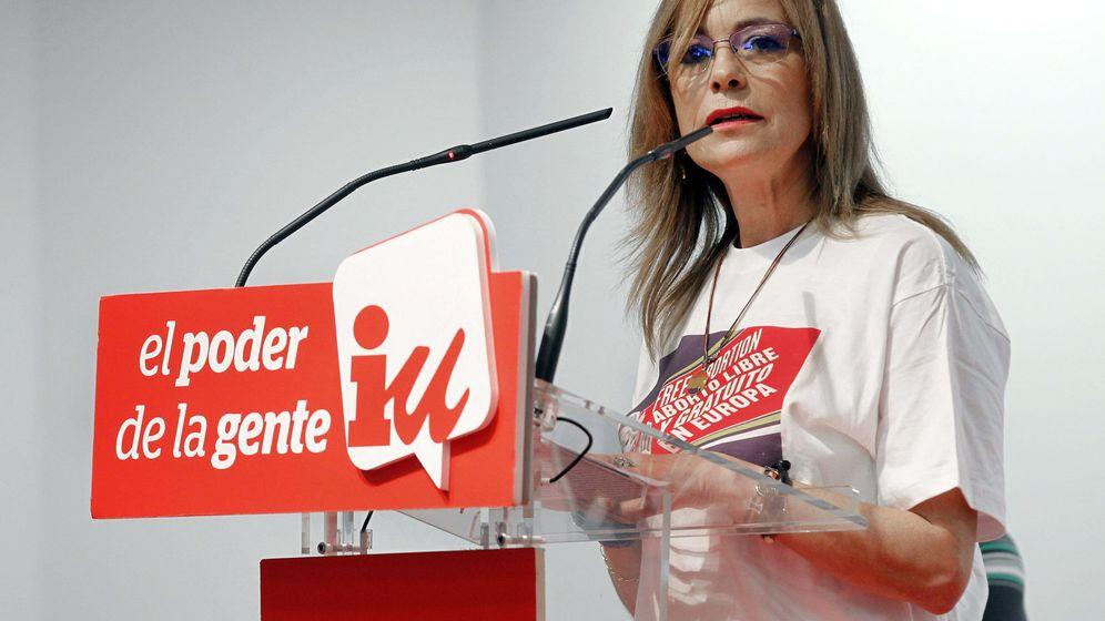 Foto: Ángela Vallina durante su campaña al Parlamento Europeo por IU. (EFE)
