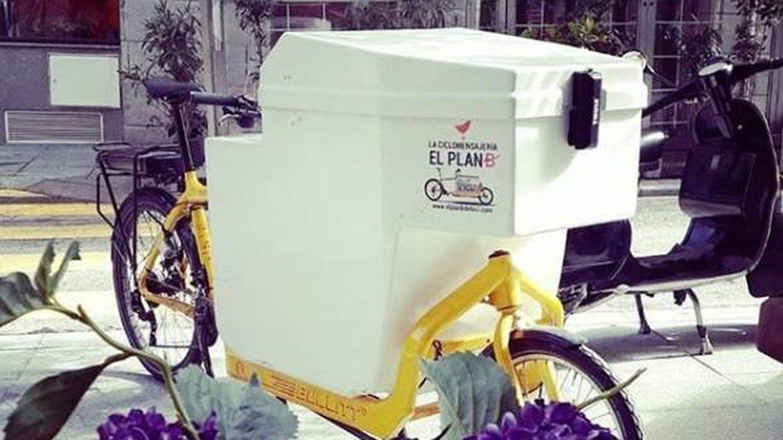 Una de las bicis de carga de El plan B. (Instagram)