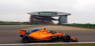 Post de El McLaren, con un paracaídas a la espalda: