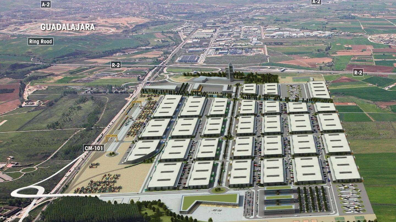 La Ciudad del Transporte ocupará 200 hectáreas entre Guadalajara y Marchamalo.