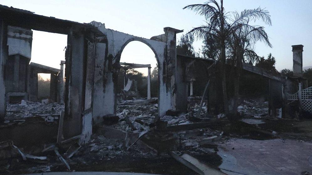 Foto:  La casa de Gerard Butler tras el incendio. (Lagencia Grosby)