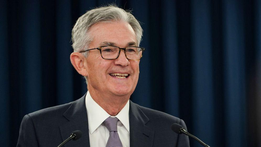 Foto: El presidente de la Fed, Jerome Powell, en Jackson Hole. (Reuters)