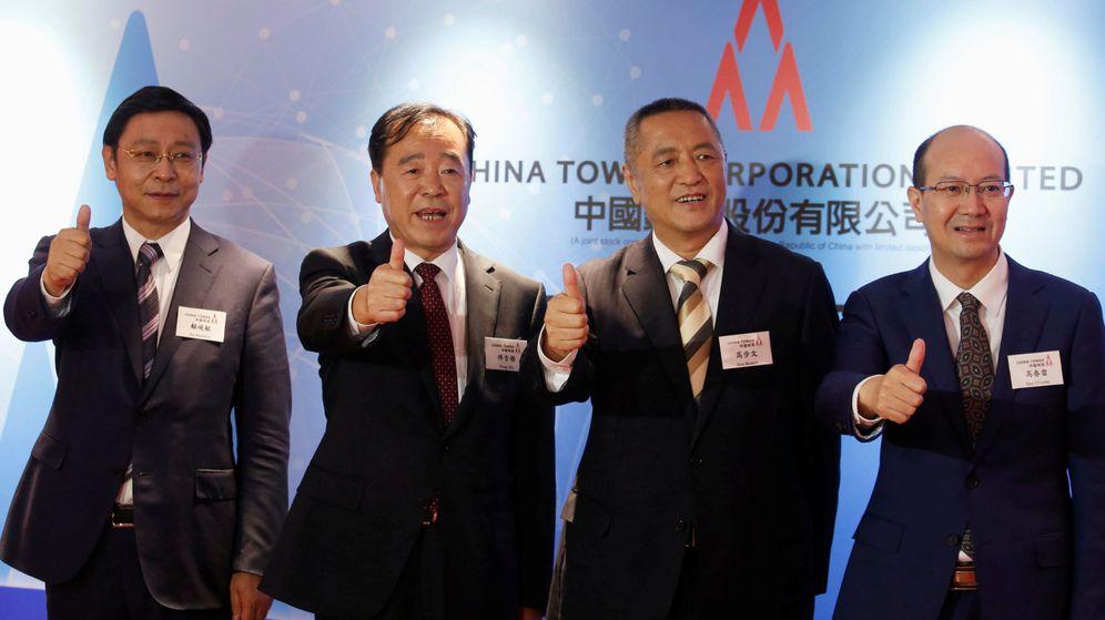 Foto: El equipo directivo de China Tower (Reuters)