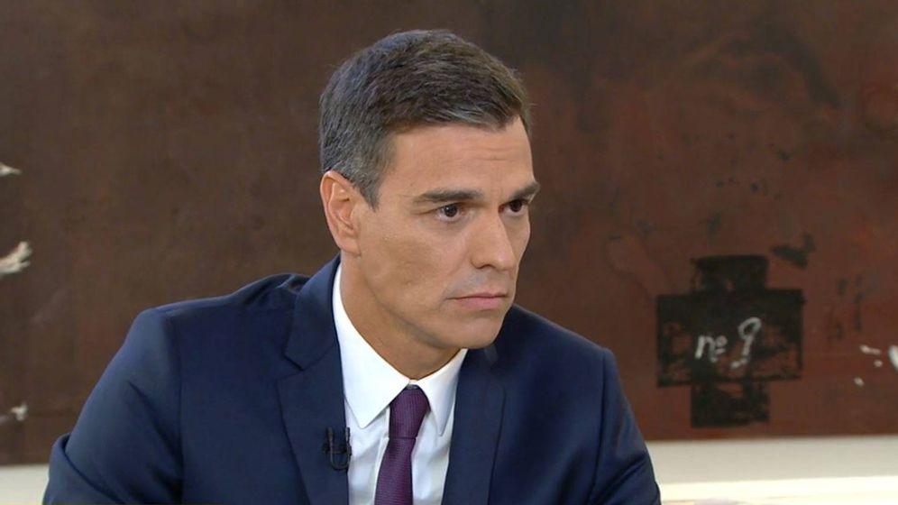 Foto: Pedro Sánchez durante la entrevista en La Sexta.