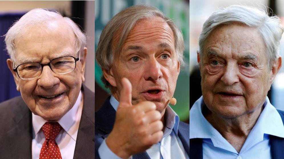 Foto: De izquierda a derecha: Warren Buffett, Ray Dalio y George Soros. (Imágenes: Reuters)