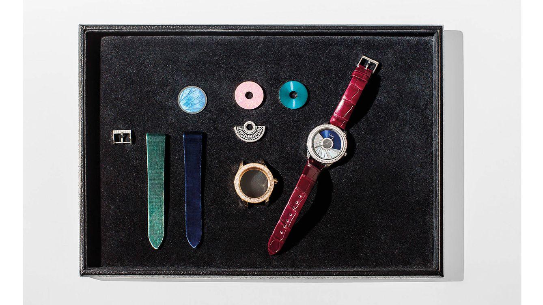 Foto: Las combinaciones posibles para personalizar el Dior Grand Bal Couture son innumerables y afectan a todos los elementos visibles del reloj.