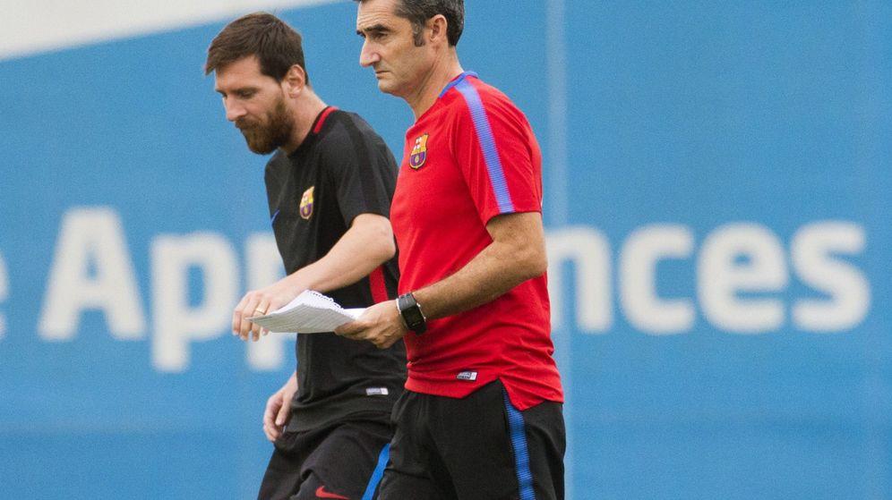 Foto: Valverde y Messi. (EFE)