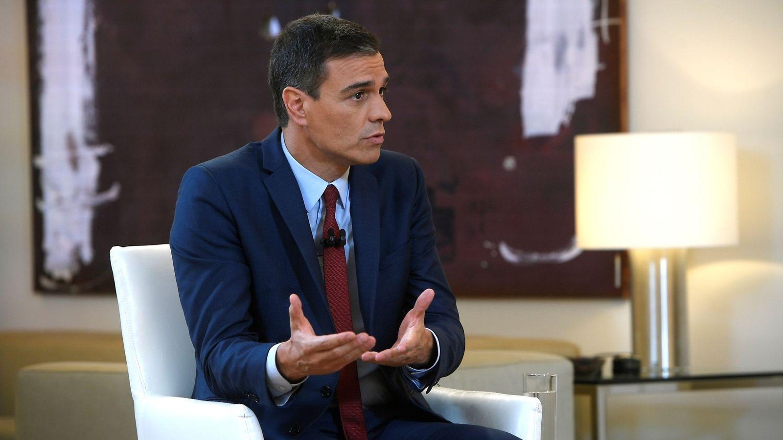 Foto: El presidente el Gobierno español en funciones, Pedro Sánchez, durante su entrevista con La Sexta. (EFE)