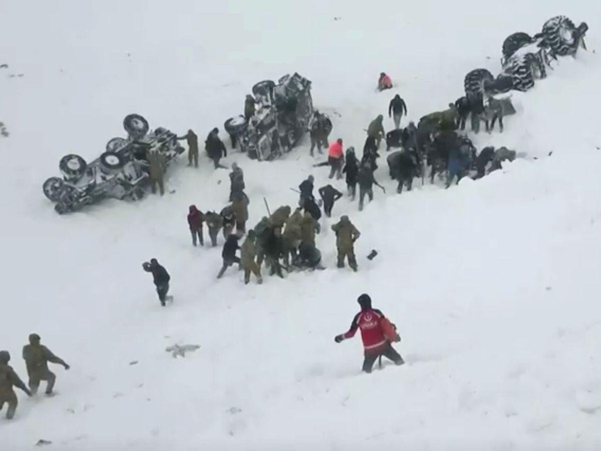 Foto: Escena de la avalancha. (Reuters)