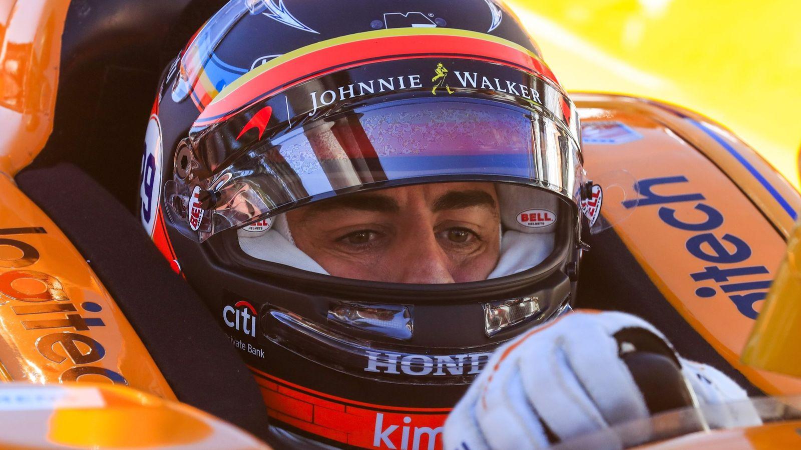Foto: Fernando Alonso en la clasificación de las 500 Millas de 2017. (EFE)