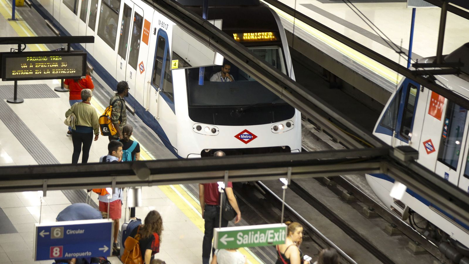 Foto: Estación de metro en Madrid.