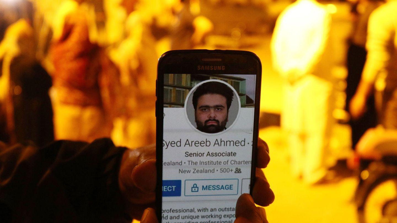 Imagen de Syed Areeb Ahmed, una de las víctimas de los atentados de Christchurch. (Reuters)
