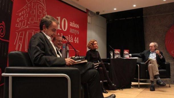 Foto: José Luis Rodríguez Zapatero, José Andrés Torres Mora y Meritxell Batet, este 26 de noviembre en el Centro Cultural Blanquerna de Madrid. (CCBlanquerna)