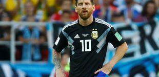Post de El melón de Messi en el penalti que le convierte en un bulto extraño con Argentina