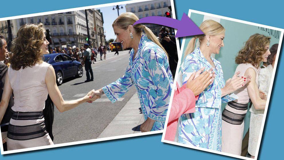 El gesto de Cristina Cifuentes para no incomodar a la Reina Letizia