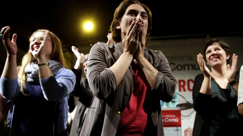 Foto: Ada Colau, de Barcelona en Comú, se dirige a sus simpatizantes. (EFE)