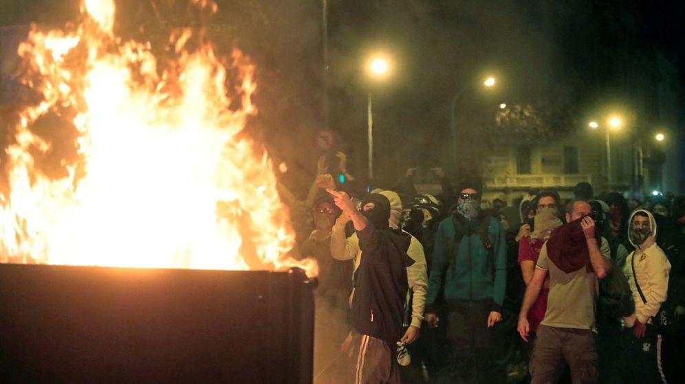Foto: Concentración de protesta de los CDR en Cataluña. (EFE)