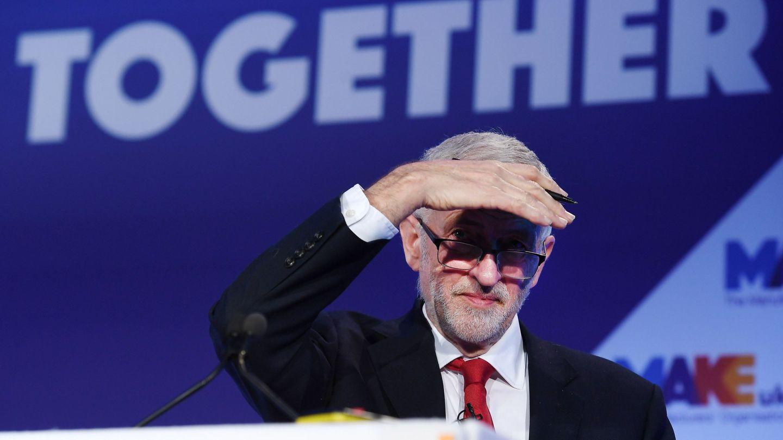 El líder del laborismo, Jeremy Corbyn, interviene durante la Conferencia de Fabricantes EEF en Londres. (EFE)