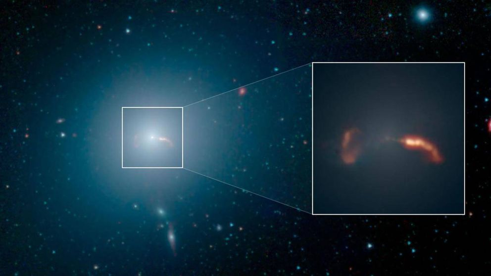 Revelan la estructura del chorro de materia de la galaxia M87, la más brillante del c