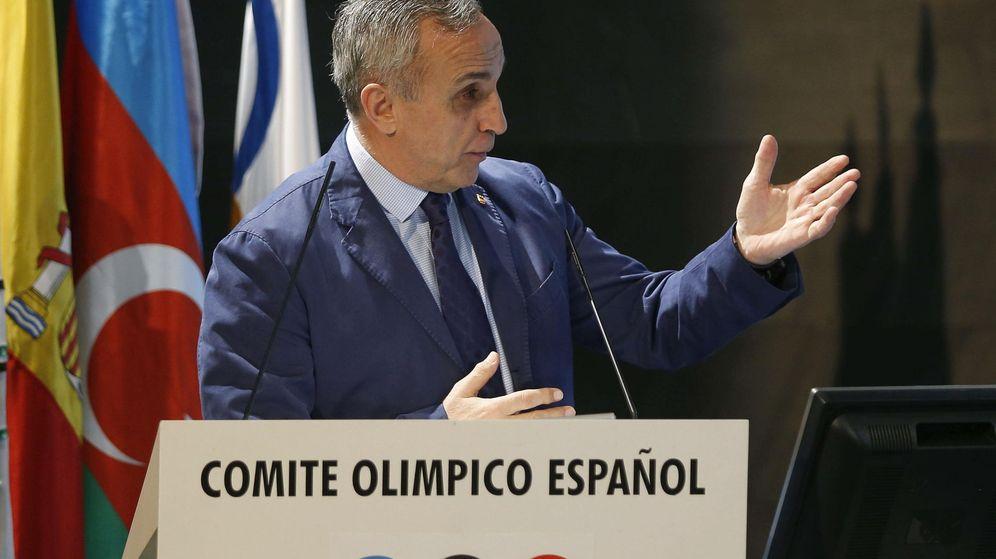 Foto: Alejandro Blanco, en un acto en la sede del Comité Olímpico Español (Efe).