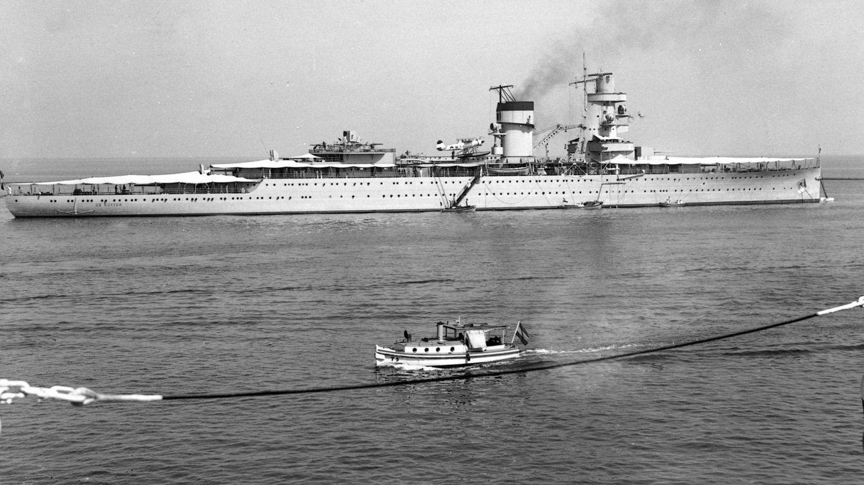 Foto: El HNLMS De Ruyter, diseñado en 1933 y hundido en 1942, durante la Segunda Guerra Mundial.