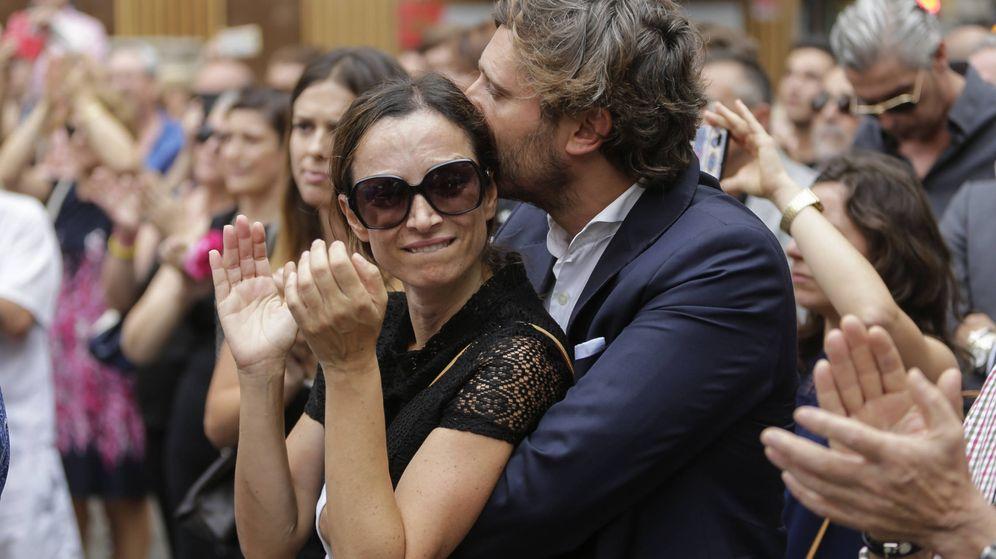 Foto: Sonia González en el funeral de su padre. (Gtres)