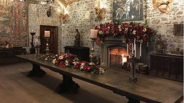 Interior del castillo rehabilitado de Killua, Irlanda,donde pasó la noche el rey Don Juan Carlos