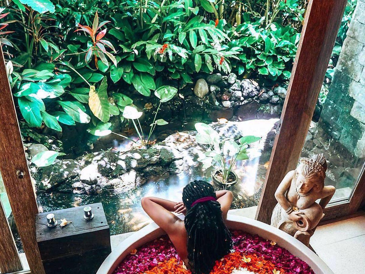 Foto: Este baño está en el hotel The Udaya Resorts. (Cortesía)