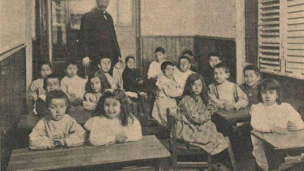 Foto: Alumnos de Educación Primaria de la Institución Libre de Enseñanza, 1903. (Christian Franzen)