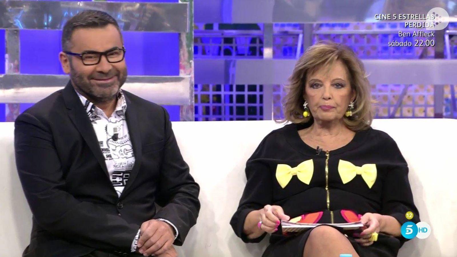 Foto: María Teresa Campos junto a Jorge Javier Vázquez.