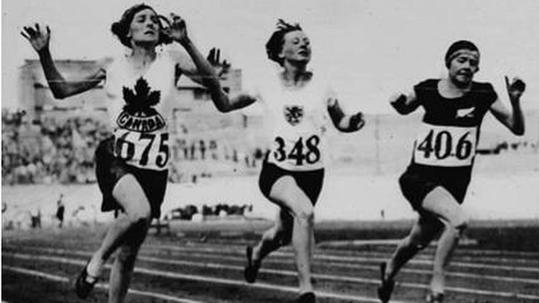 Carrera de atletismo en Ámsterdam, en 1928.