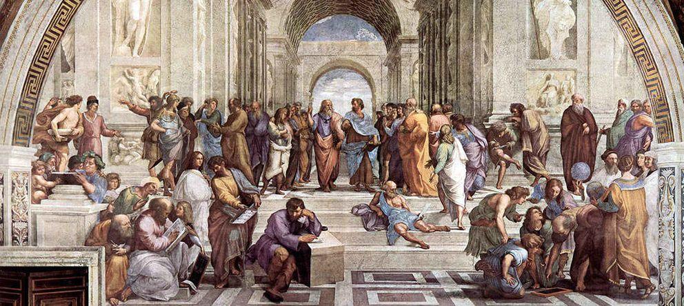 Foto: 'La escuela de Atenas', de Rafael Sanzio, es una celebración renacentista de la filosofía y ciencia de la Atenas clásica.