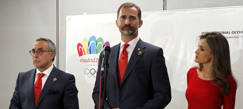 Foto: Alejandro Blanco y los Príncipes de Asturias en la rueda de prensa posterior. (Efe)