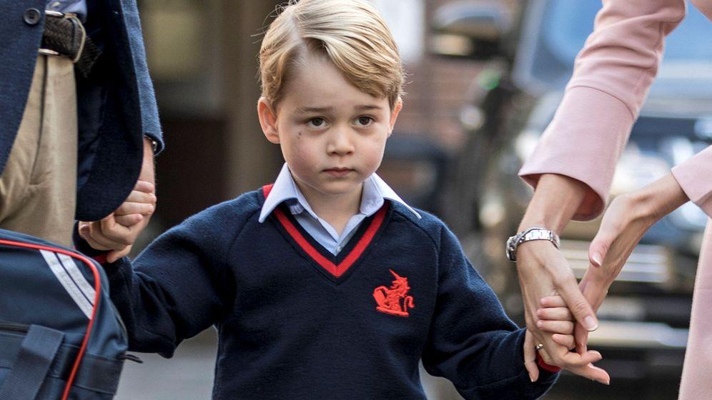 Foto: El primer día de cole del príncipe George de Cambridge