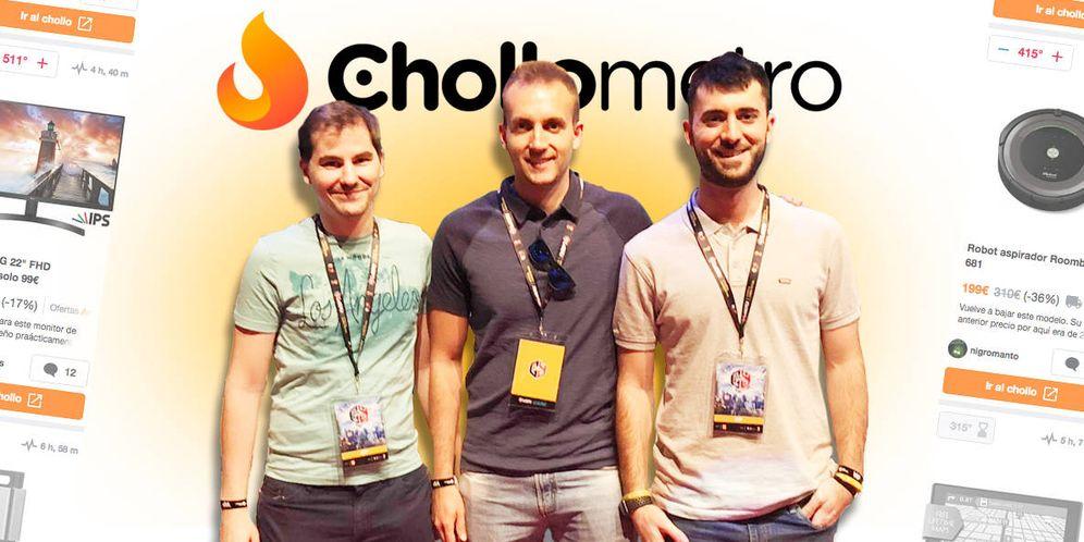 Foto: Adrián, Manuel y Miguel, los tres creadores de Chollometro. (EC)