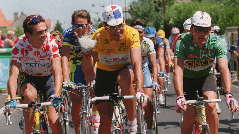 Miguel Induráin, en el Tour. (Getty)