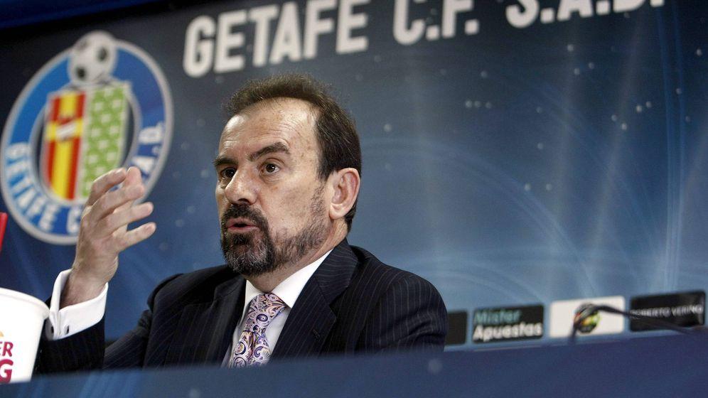 Foto: Ángel Torres, presidente del Getafe (Juan M Espinosa/EFE).