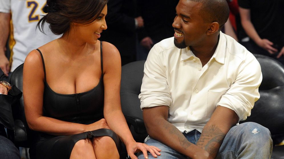 Foto:  Kim Kardashian y Kanye West. (Getty)