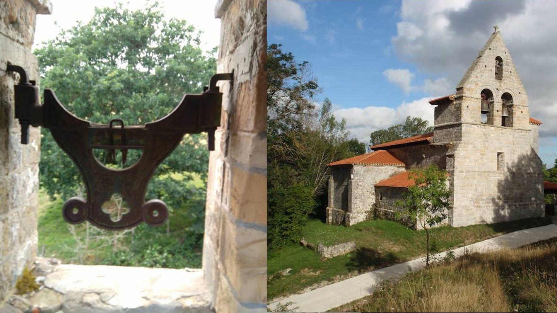 Iglesia de Virtus, del siglo XII, con campanas (derecha) y sin ella (izquierda).