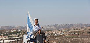 Post de Cuenta atrás en la colonia israelí de Amona