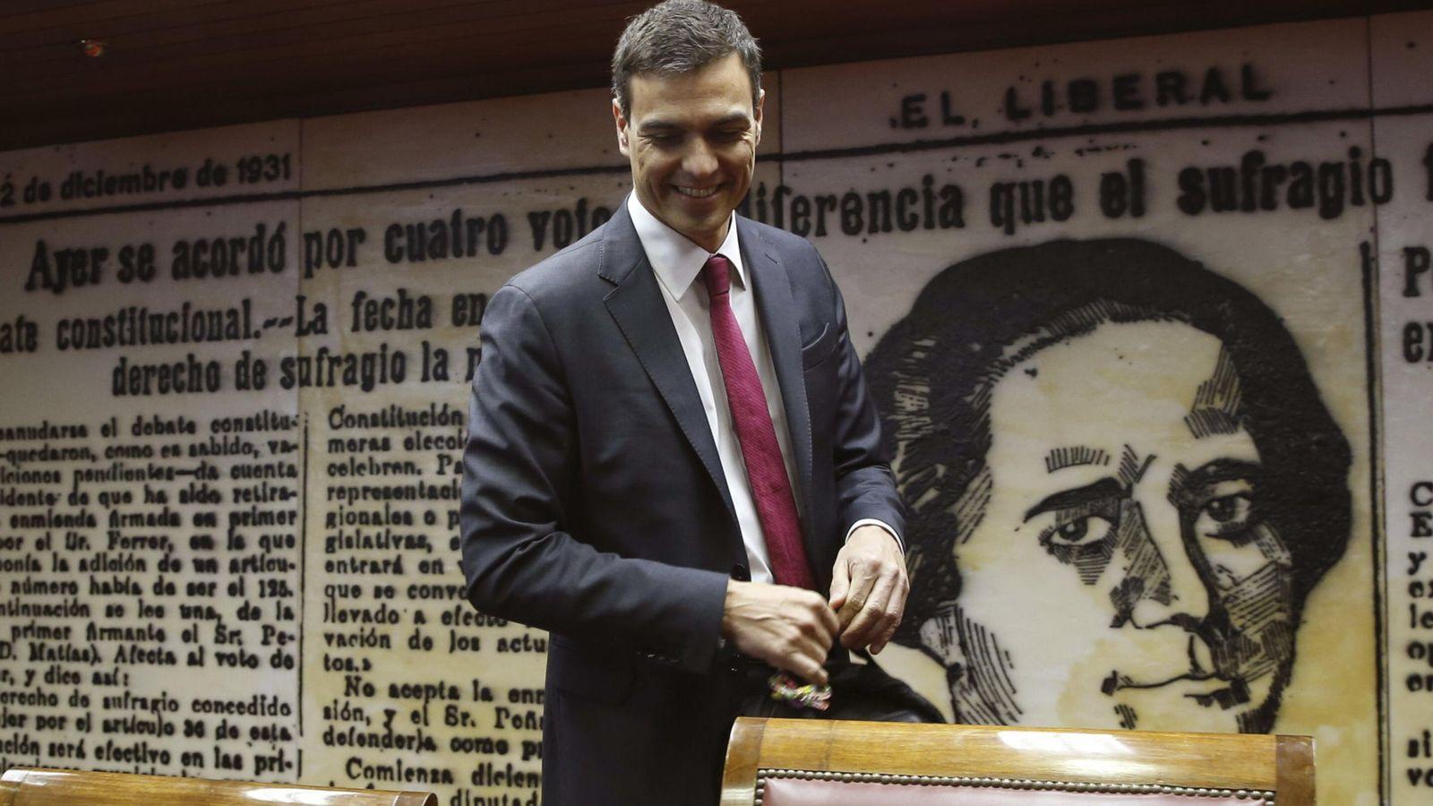 Foto: l líder del PSOE, Pedro Sánchez, durante la presentación de su propuesta para un nuevo Estatuto de los Trabajadores (EFE)
