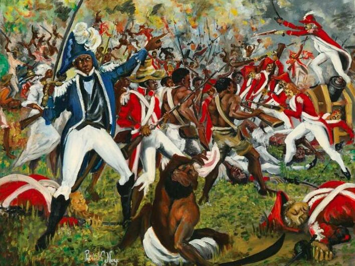 Foto: 'Combate de Vertière', del pintor haitiano Patrick Noze.