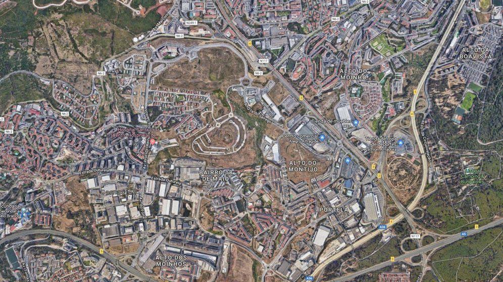 Foto: Vista aérea de los terrenos adquiridos.