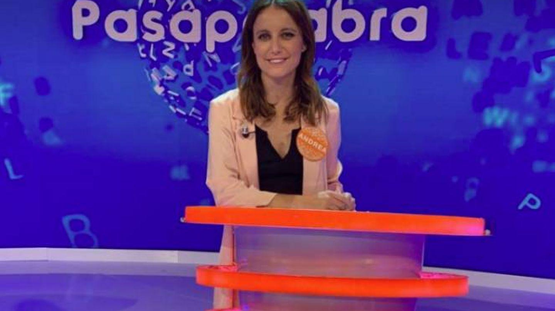 Andrea Levy, en la grabación de 'Pasapalabra'.