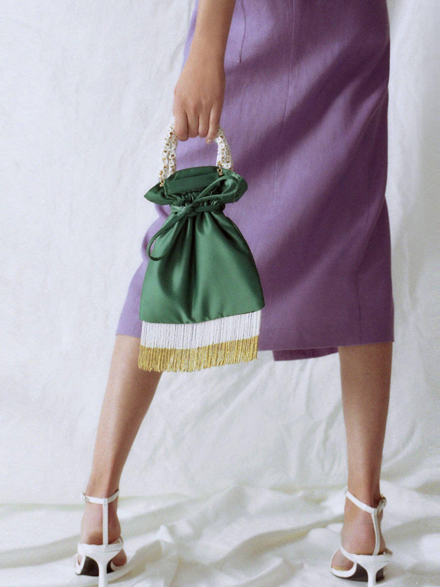 El nuevo bolso de fiesta de Uterqüe. (Cortesía)