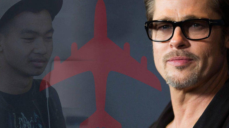Brad Pitt y su hijo Maddox en un fotomontaje realizado en Vanitatis
