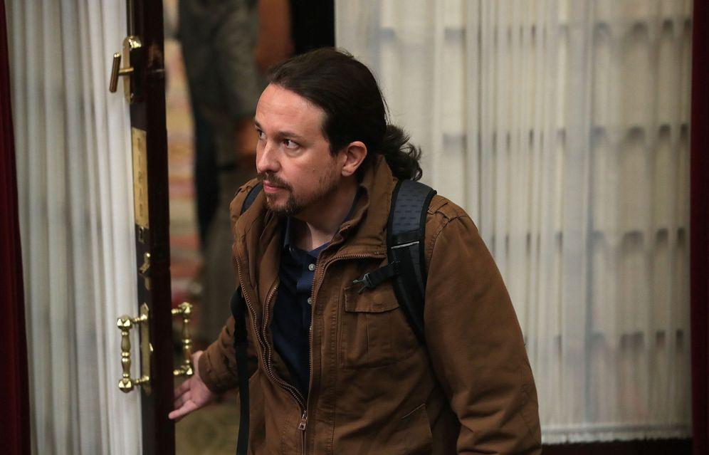 Foto: Pablo Iglesias, en el Congreso de los Diputados. (EFE)