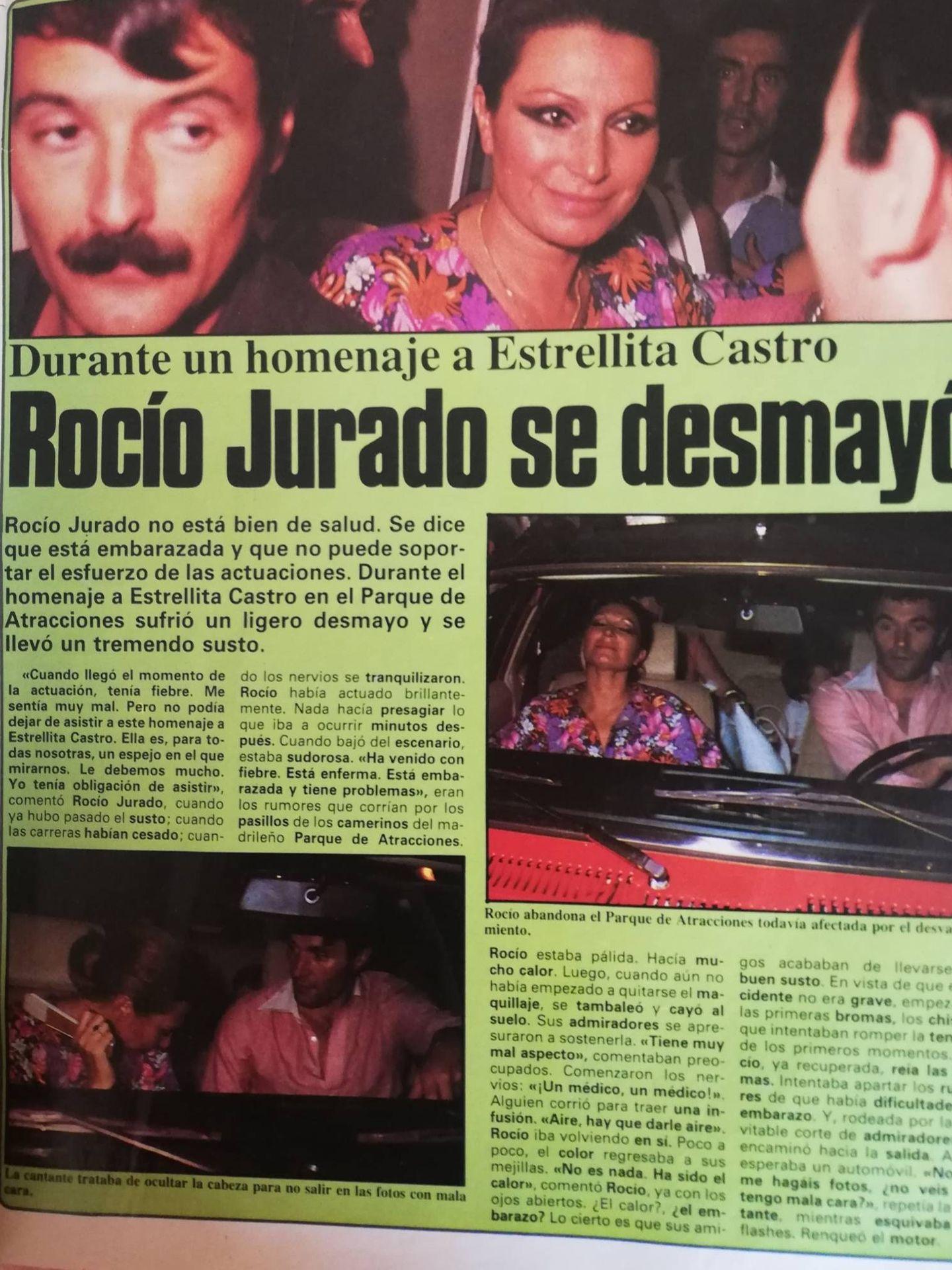 Un artículo sobre Rocío, en la revista 'Tiempo'.