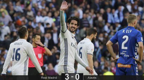 El Real Madrid sabe golear hasta en las tardes más plomizas
